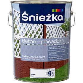 Краска для бетонных оснований Śnieżka BETON-POSADZKA БЕЛЫЙ В00 5л