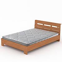 Кровать Стиль-140 двухспальная деревянная, мебель для спальни (Компанит)