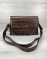 Женская сумка клатч «Келли» коричневая, фото 1