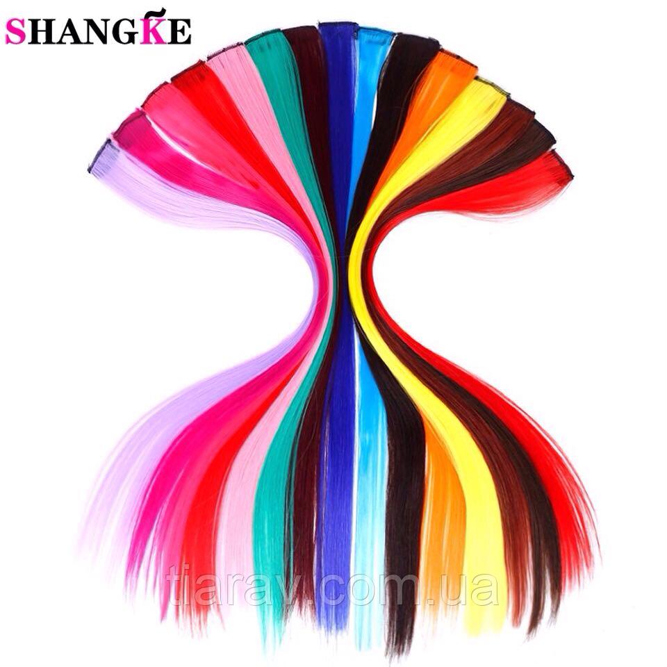 Яскраві кольорові пасма волосся на шпильки, канекалоны