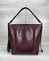 Женская сумка «Шерри» бордовая, фото 1