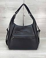 Женская сумка рюкзак «Голди» черный, фото 1