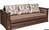 Диван-еврокнижка НАДЕЖДА Спальный диван для повседневного сна Коричневый СКМ, фото 2