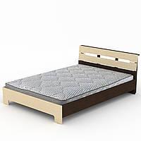 Кровать Стиль-160 двухспальная деревянная, мебель для спальни (Компанит)