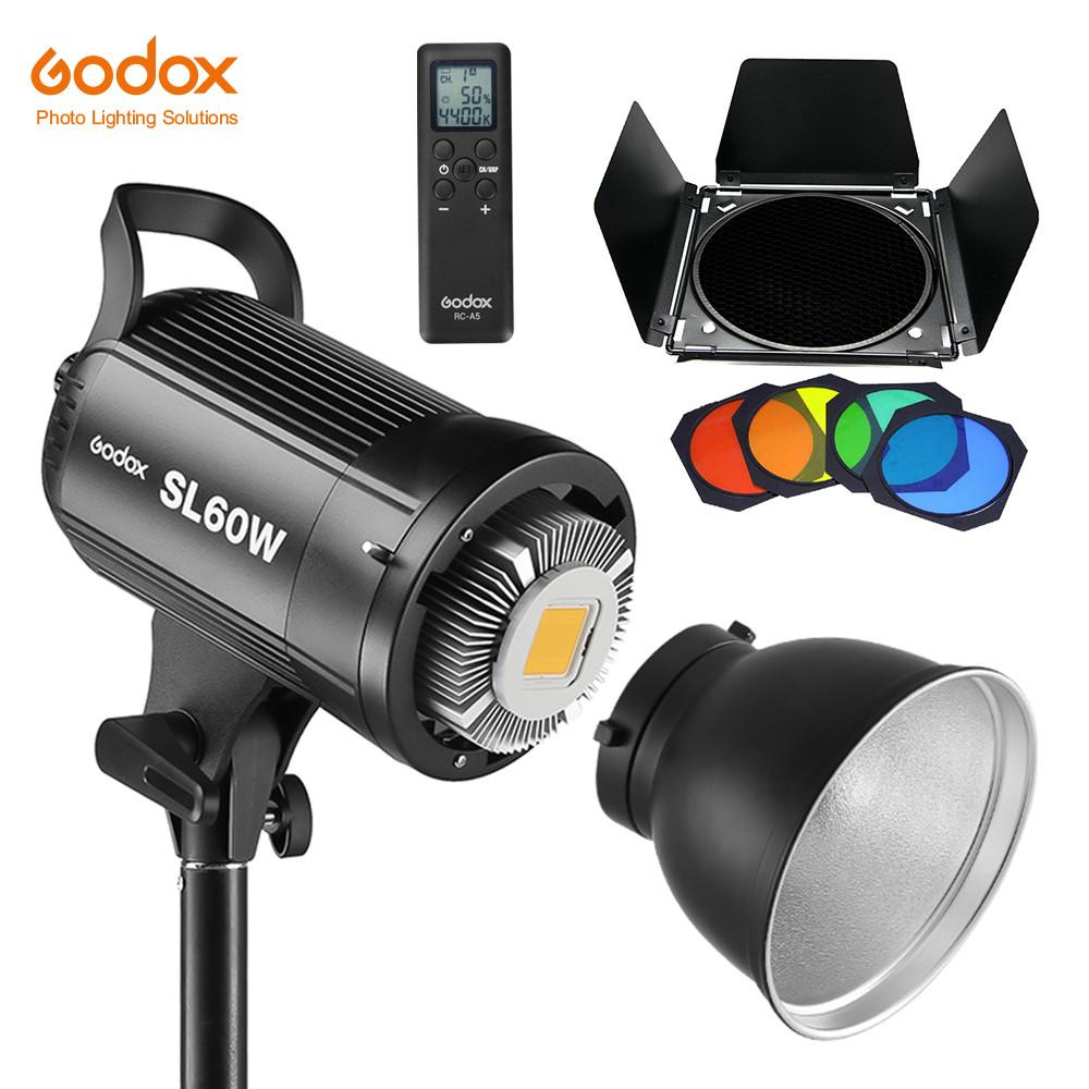 Постоянный свет Godox SL60W + фильтры  5600K 60W CRI 95 + Bowens крепление  светодиодный видео свет