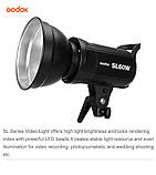 Постоянный свет Godox SL60W + фильтры  5600K 60W CRI 95 + Bowens крепление  светодиодный видео свет, фото 3