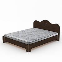 Кровать-150 МДФ двухспальная деревянная, мебель для спальни (Компанит)
