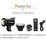 Постоянный свет Godox SL60W + фильтры  5600K 60W CRI 95 + Bowens крепление  светодиодный видео свет, фото 4