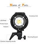 Постоянный свет Godox SL60W + фильтры  5600K 60W CRI 95 + Bowens крепление  светодиодный видео свет, фото 6