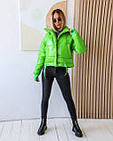 Куртка женская осенняя 42-44, 46-48 чёрный, мокко, хаки, пудра, красный, салатовый, желтый, фото 6