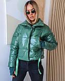 Куртка женская осенняя 42-44, 46-48 чёрный, мокко, хаки, пудра, красный, салатовый, желтый, фото 3