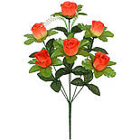 Искусственные цветы букет розы в бутоне, 50см (20 шт. в уп), фото 2