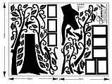 Декоративная  наклейка стикер Семейное дерево с фоторамками  (250х180см), фото 10