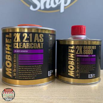 Лак акриловый повышенной прочности Mobihel AS 2:1 HS, 500 мл + 250 мл Комплект