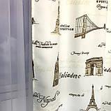 """Готовый комплект штор """"Города"""" из плотной ткани софт/атлас с ресунком., фото 2"""