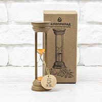 Часы песочные на 5 мин тип 4 исп. 19 Ø50; h=160 мм основание орех песок оранжевый (300569)