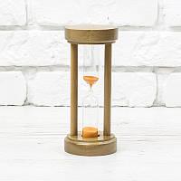 Часы песочные на 10 минут h=160 мм; Ø 70 мм основание орех песок оранжевый тип 4 исп. 22 (300582)