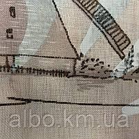 """Тюль батист с рисунком """"города"""" на метраж, высота 2.8 м, фото 4"""