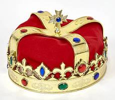 Шапка корона Цар червона оксамитова
