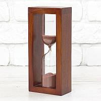 Часы песочные на 10 мин тип 4 исп. 27 200*50*90 мм основание вишня песок коричневый (300586)