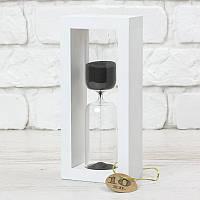 Часы песочные на 10 мин тип 4 исп. 27 200*50*90 мм основание белое песок черный (300590)