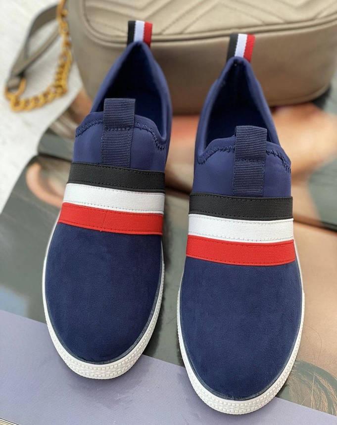 Кросівки жіночі 8 пар в ящику синього кольору 36-41, фото 2
