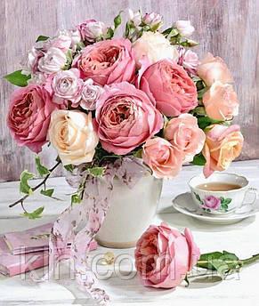 Алмазна вишивка на підрамнику Чуттєві троянди 40 х 50 см (арт. TN950)