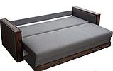 Прямой раскладной диван от производителя еврокнижка МУЗА Диван-софа для повседневного сна Серый, фото 3