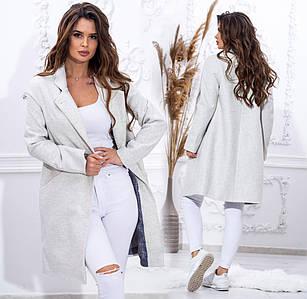 """Женское демисезонное пальто до больших размеров """"Кашемир Классика"""" в расцветках (80-974)"""