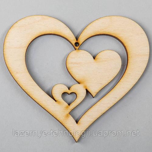 """Подвеска """"Два сердца в сердце"""""""