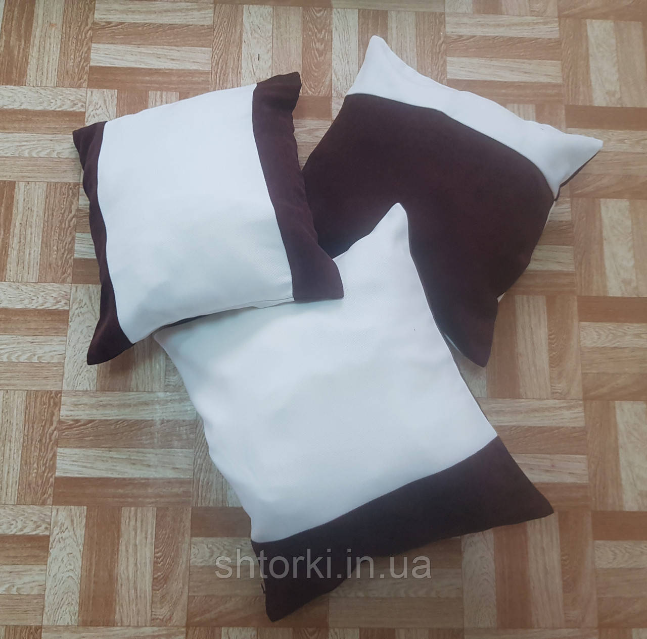 Комплект подушек Мевлана шоколад, 3шт