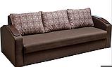 Прямой раскладной диван от производителя еврокнижка СМАРТ Диван-софа для повседневного сна Коричневый, фото 2