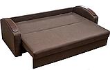 Прямой раскладной диван от производителя еврокнижка СМАРТ Диван-софа для повседневного сна Коричневый, фото 3