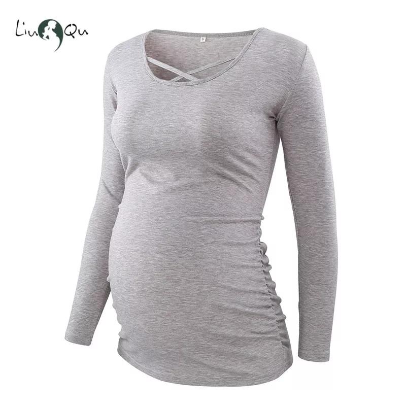 Лонгсливы для беременных серый 1шт