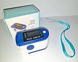Пульсометр оксиметр на палец - пульсоксиметр PULSE OXIMETER цветной LCD дисплей, фото 9