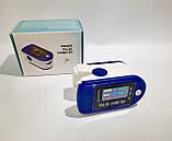 Пульсометр оксиметром на палець - пульсоксиметр PULSE OXIMETER кольоровий LCD дисплей, фото 5