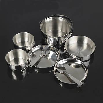 M-Tac набор посуды туристический на 2 персоны нерж.