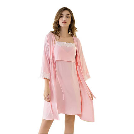 Комплект ночнушка и халат для беременных и кормящих, фото 2