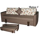 Прямой раскладной диван от производителя еврокнижка СМИЛА 1 Диван для повседневного сна Коричневый, фото 3