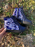 Демисезонные ботинки для девочки р27-30 ТМ Солнце