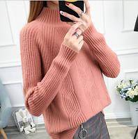 Комфортный мягкий теплый женский свитер на каждый день под горло р-р 42-44