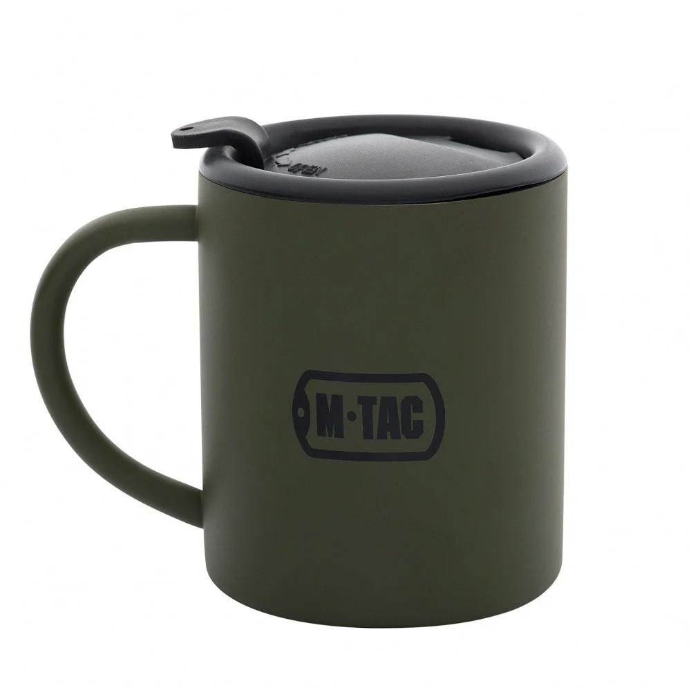 M-Tac термокружка 280 мл. с крышкой олива