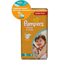 Пiдгузники PAMPERS Sleep & Play Junior 5 (11-18 кг) Джамбо 58шт