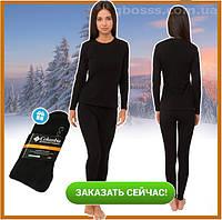 Женское термобелье Bioactive микрофлис, комплект термобелья для повседневной носки + носки в подарок