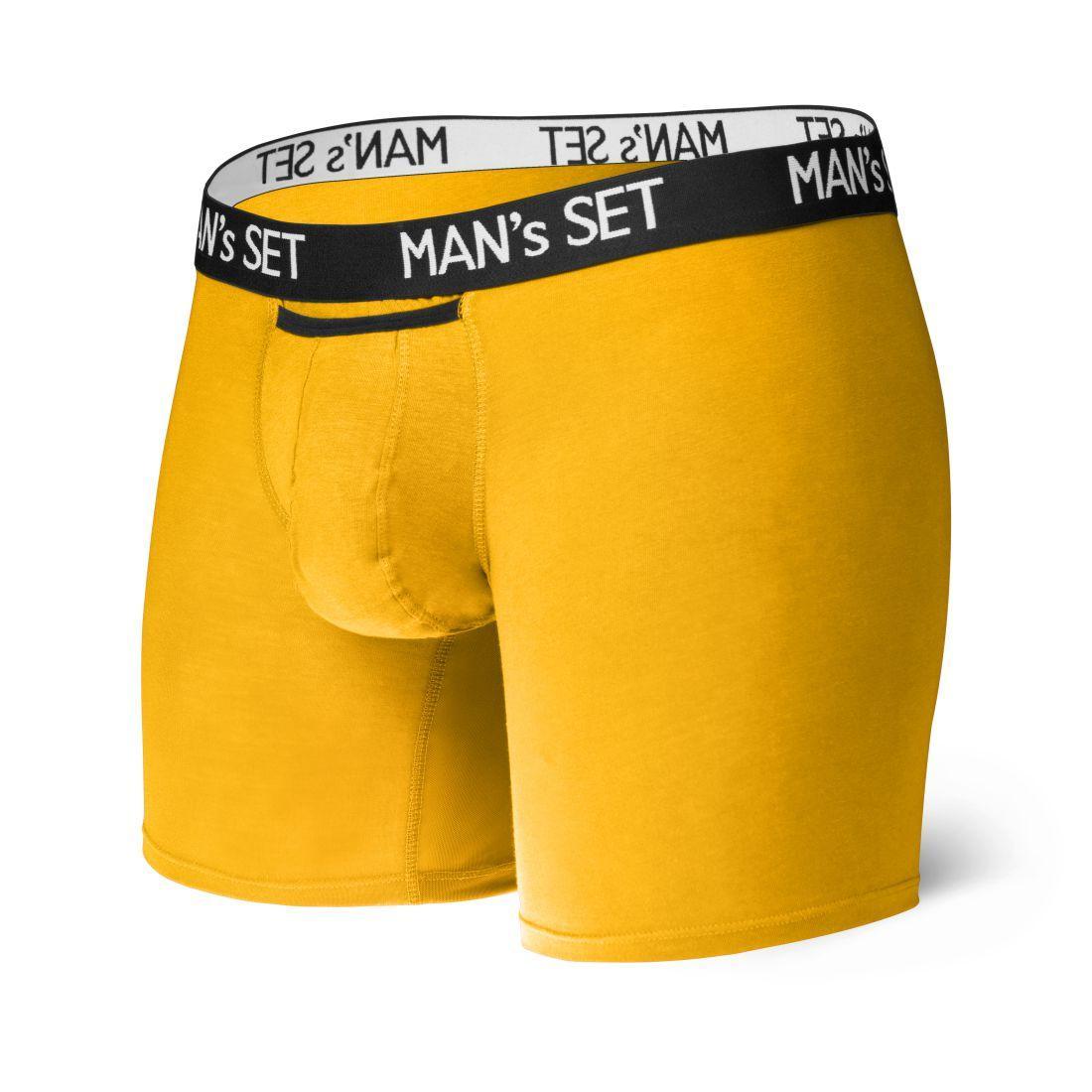 Анатомические боксеры из хлопка Long, желтый