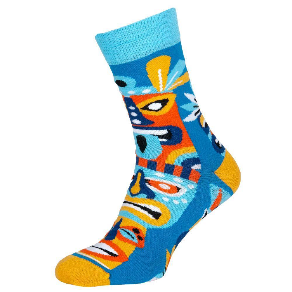 """Шкарпетки чоловічі кольорові з бавовни, блакитний """"Маска"""""""