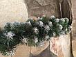 """Новорічний вінок """"Сниговая Королева"""" 50см / Вінок хвойний / Новорічний вінок / Декор віночок, фото 4"""