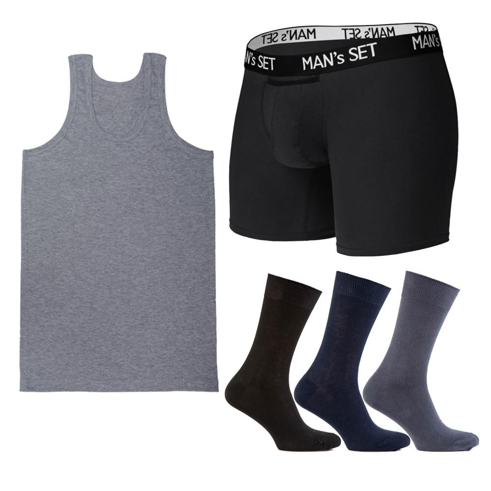 Комплект анатомічних боксерів Long, майки та шкарпеток SHIRT SET Medium