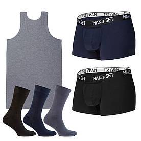 Комплект анатомических боксеров, майки и носков SHIRT SET Large