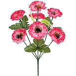 Искусственные цветы букет маргариток, 35см(20 шт в уп), фото 2